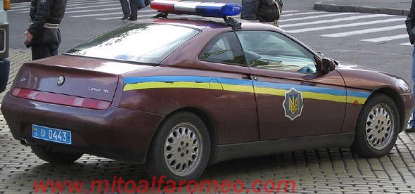 Alfa GTV Twin Spark Polizia Ucraina - www.mitoalfaromeo.com -