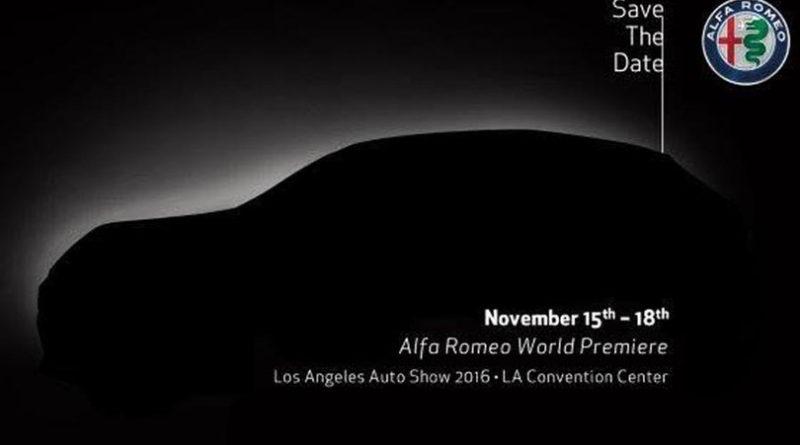Alfa Romeo Stelvio debutterà il 15 novembre 2016 all' Auto Show di Los Angeles