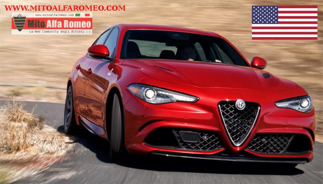 Mercato auto USA ad aprile 2018:  Alfa Romeo con Giulia, Stelvio e 4C vola nelle vendite a + 172,8%
