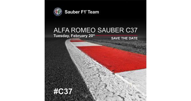 Il 20 febbraio 2018 ci sarà la presentazione dell'Alfa Romeo Sauber C37