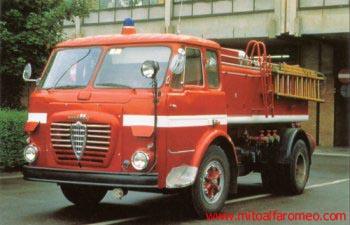 autocarri alfa romeo vintage Pompieri