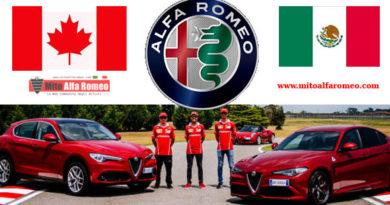 Alfa Romeo in Canada scende a – 14% mentre in  Messico segna + 85% a novembre 2018