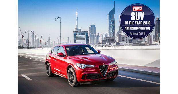 """Alfa Romeo Stelvio Quadrifoglio: SUV dell'anno 2018"""" secondo Auto Zeitung"""