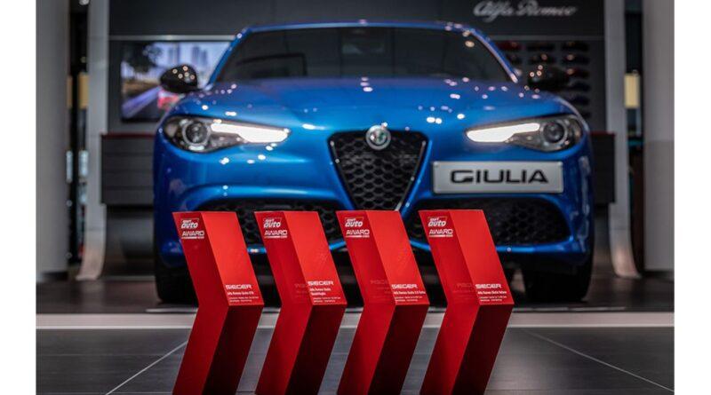 Alfa Romeo Giulia fa il pieno di premi in Germania: trionfo agli SPORT AUTO AWARD 2020