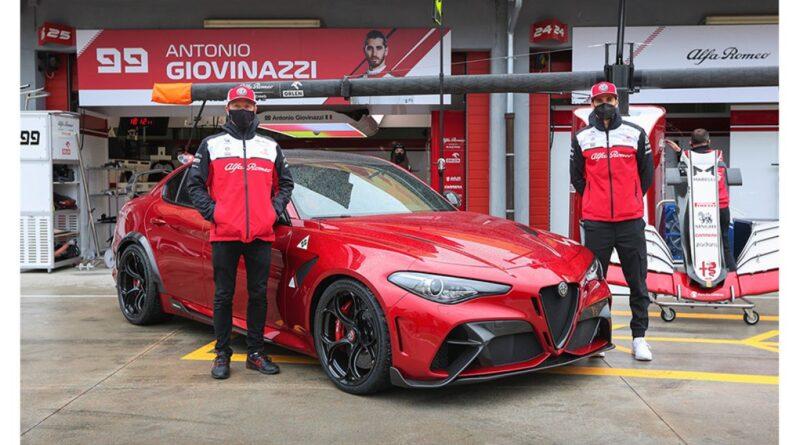 Giulia GTAm ospite di Kimi Raikkonen e Antonio Giovinazzi al Gran Premio di Imola